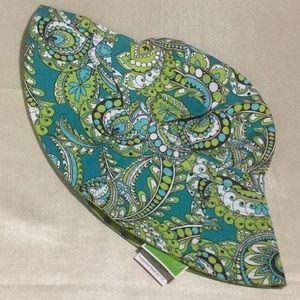 Vera Bradley Sun Hat Peacock Pattern